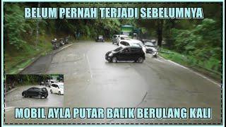 Download Belum Pernah Terjadi, Mobil Ayla Putar Balik Berulang Kali di Sitinjau Lauik
