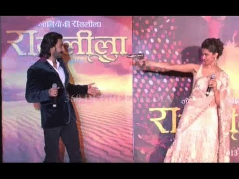 Ramleela Movie Ist Trailer launch - Ranveer flirt Deepika & shoot Travel Video