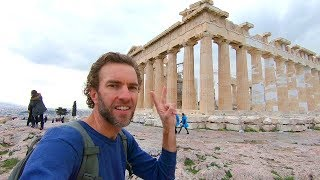 Exploring Athens, Greece: Walking to the Parthenon