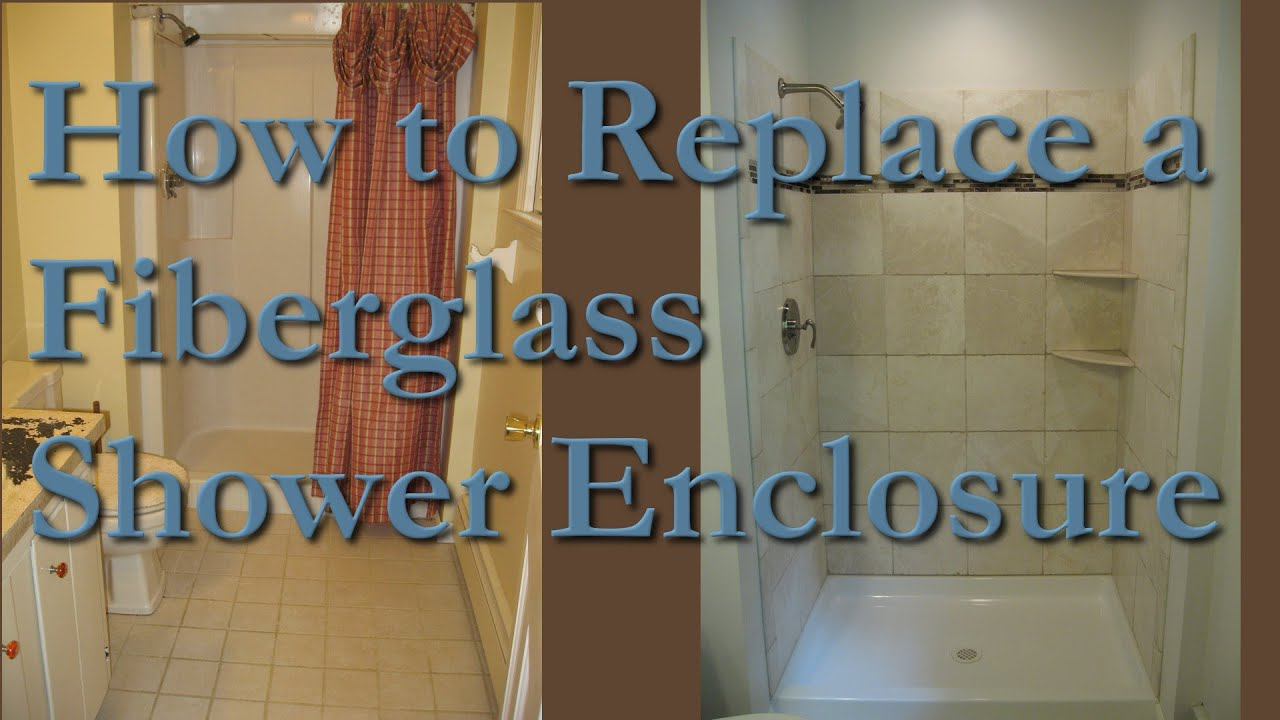 How to Remodel Fiberglass Shower Stall with Marble Tile MA RI - YouTube