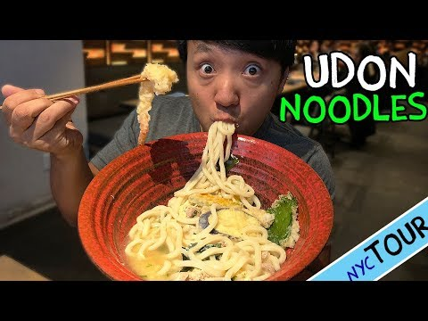 BEST Udon Noodles in New York! MASSIVE Bowl of Udon Noodle Soup!