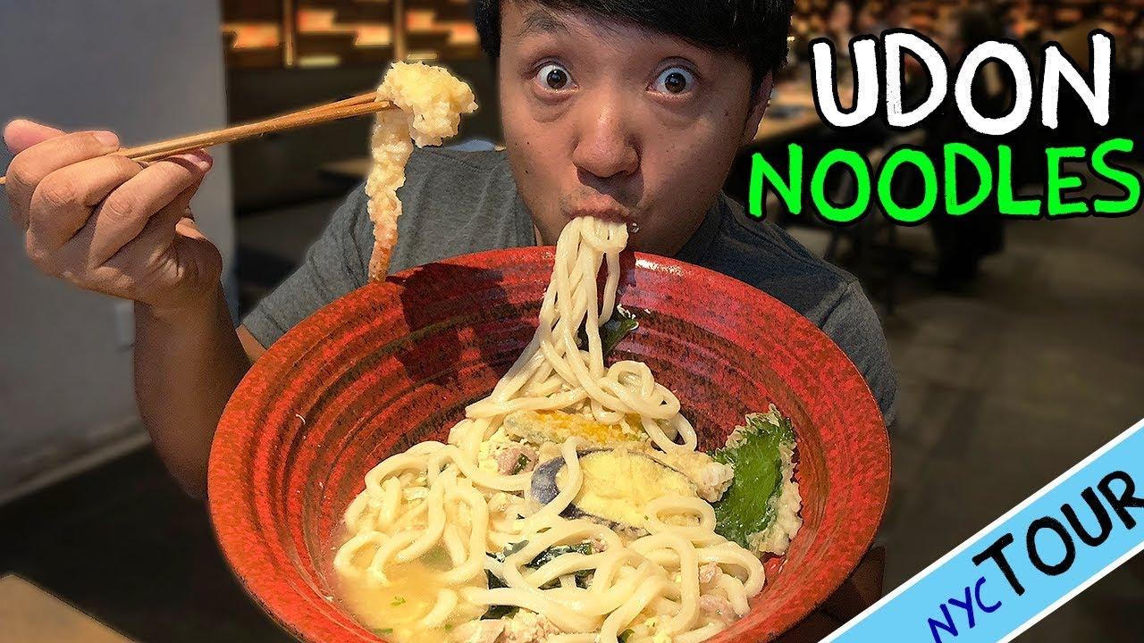 BEST Udon Noodles in New York! MASSIVE Bowl of Udon Noodle Soup!