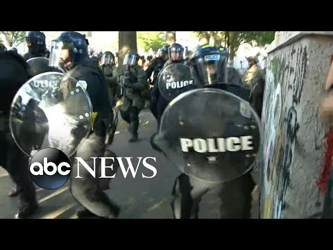 Police Use Tear Gas, Push Back Peaceful Protesters For Trump Church Visit L ABC News