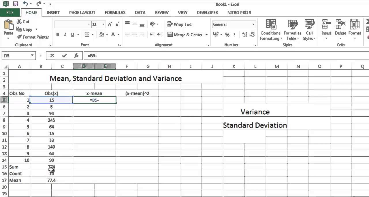 How To Calculate Mean, Variance, Standard Deviation