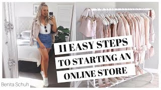 HOW TO START YOUR ONLINE BUSINESS IN 11 EASY STEPS!
