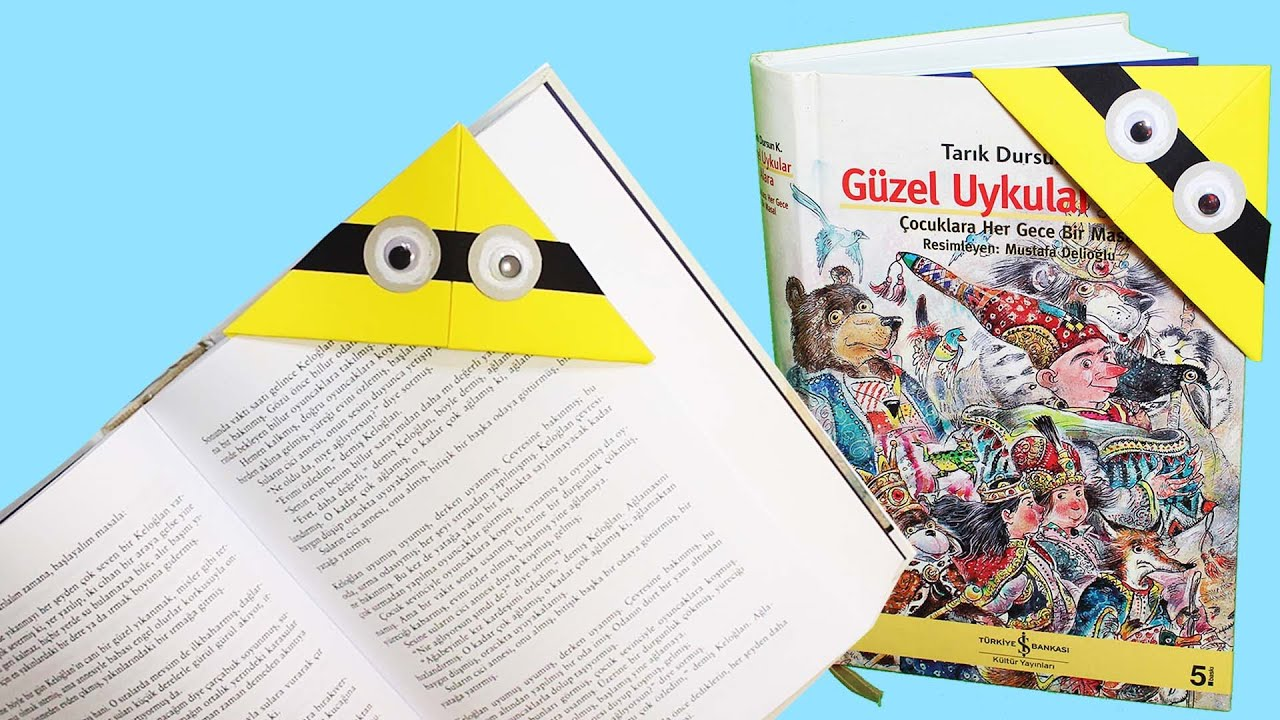 Minyonlar Kitap Ayraci Yapimi Kitap Ayraci Nasil Yapilir Boya