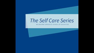 Self Care Series   Ep  Two Daily self care strategies for isolation