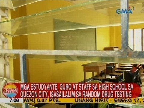 Mga estudyante, guro at staff sa high school sa Quezon City, isasailalim sa random drug testing