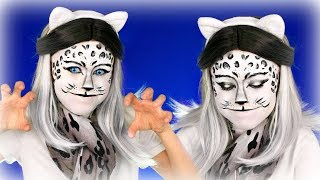 A Day at the ZOO! Snow Leopard Makeup and Costume Tutorial!