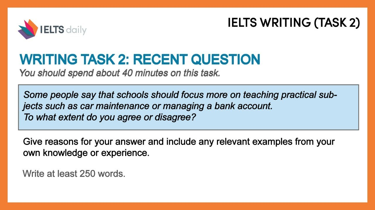 [IELTS LIVE CLASS] IELTS Essay Writing Task 2 - TRADITIONAL SUBJECTS at school?