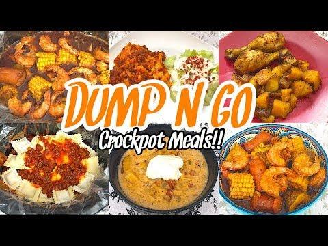 Dump & Go Crockpot Meals |  QUICK & EASY CROCK POT RECIPES | SIMPLE DINNER IDEAS