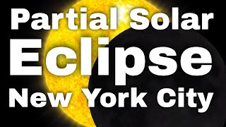 partial solar eclipse new york city august 21 2017 video