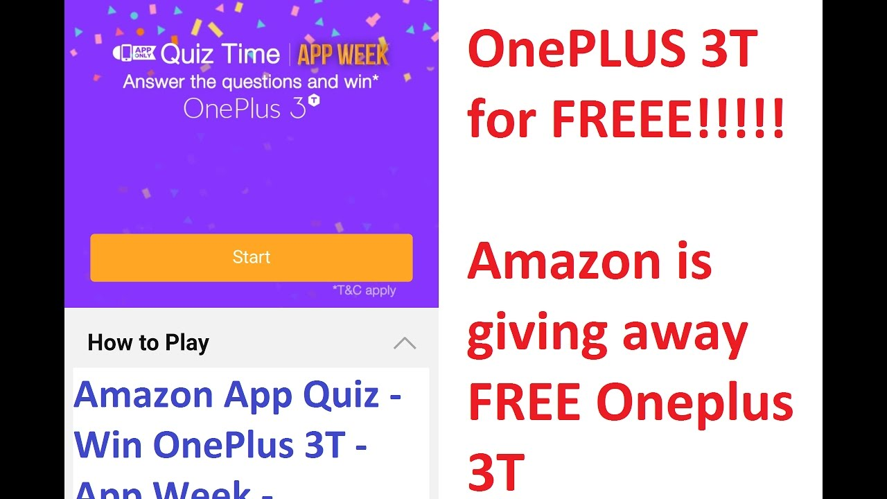 Free Oneplus 3t Giveaway