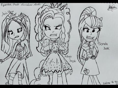 My Little Pony |Como dibujar a Aria Blaze |How to draw Aria Blaze ...