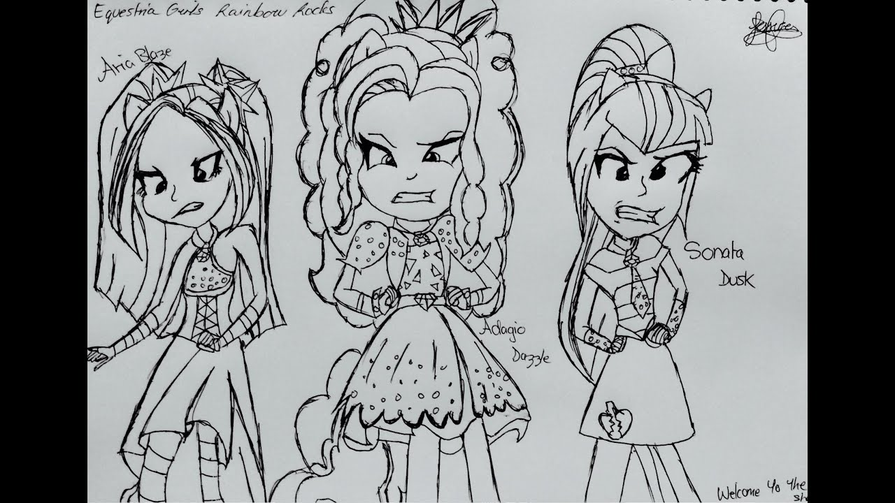 My Little Pony Equestria Girl Rainbow Rocks Ausmalbilder : My Little Pony Equestria Girls Rainbow Rocks Coloring Pages