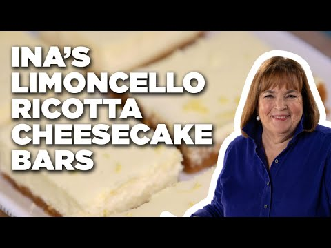 How to Make Ina's Limoncello Ricotta Cheesecake Bars | Food Network