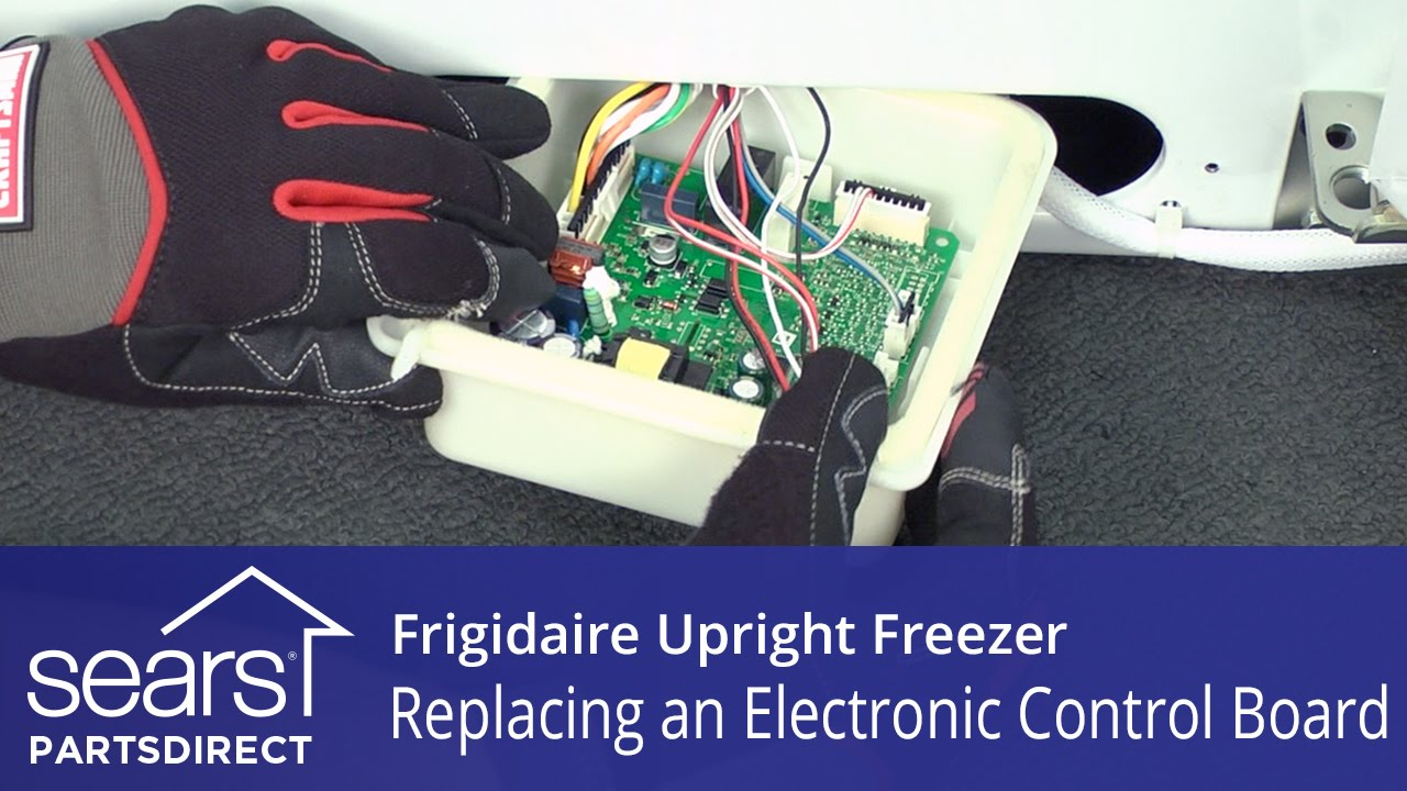 How To Replace A Frigidaire Upright Freezer Electronic Control Board Ge Defrost Wiring Diagram Youtube