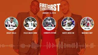 First Things First audio podcast(1.14.19)Cris Carter, Nick Wright, Jenna Wolfe | FIRST THINGS FIRST