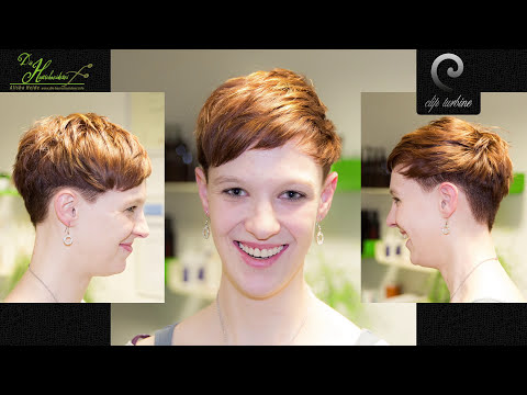 medium wavy hair to short pixie haircut | extreme makeover by jacky @ die haarschneiderei