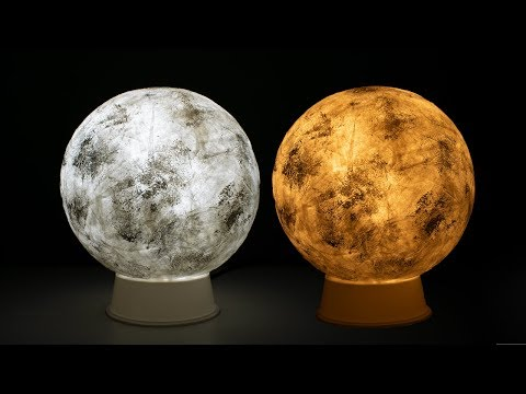DIY Moon Lamp | Tissue Paper Craft Idea