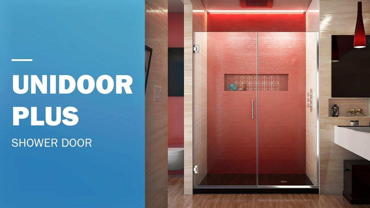 Dreamline Unidoor Plus Frameless Shower Door 60 Inch Hinged