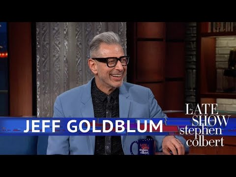 The Late Show gifts us with just 10 minutes of Jeff Goldblum being Jeff Goldblum