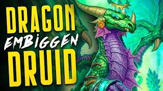 Embiggen Ramp Dragon Druid is INSANE! | Descent of Dragons