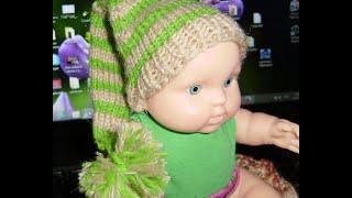 Шапочка Буратино спицами. Как связать детскую шапку спицами #ЛюдмилаТен