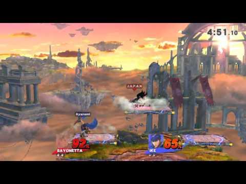 Super Smash Bros.Wii U - J.A.P.A.N (Bayonetta) VS Urameshi (Ike) Game 3  