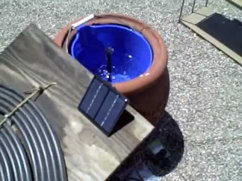 Solar Powered Water Fountain   Simple DIY Water Feature (for Pond/birdbath  Or Other Display)