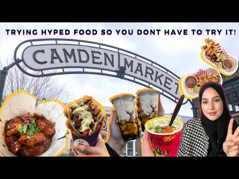 Camden market| The Alley: TRYING HYPED FOOD SO YOU DON'T HAVE TO TRY IT! 🇬🇧