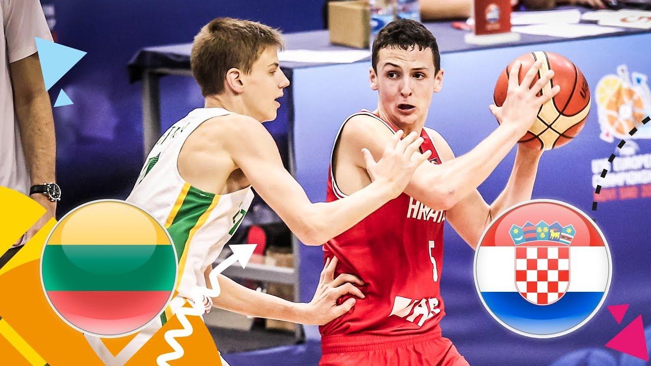 Lithuania v Croatia - Quarter-Final - Full Game - FIBA U16 European Championship 2018