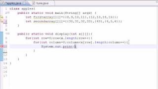 Java Programming Tutorial - 34 - Table for Multi Arrays