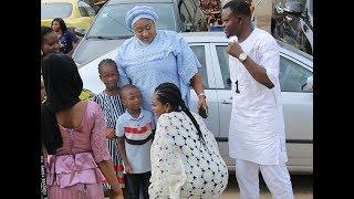 So Humble See how Newly Wed Bidemi Kosoko bow to greet Ronko Oshodi at her sister naming ceremony