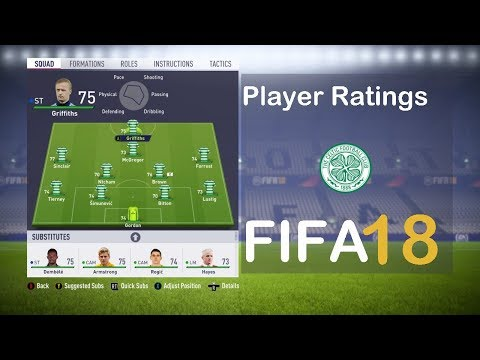 FIFA 18 Celtic FC Player Ratings