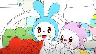Малышарики - Смешинка   Раскраска для девочек и мальчиков
