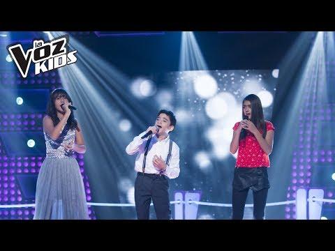 María Paula, Jorge y Michelle cantan Vivo por Ella  Batallas La Voz Kids Colombia 2018