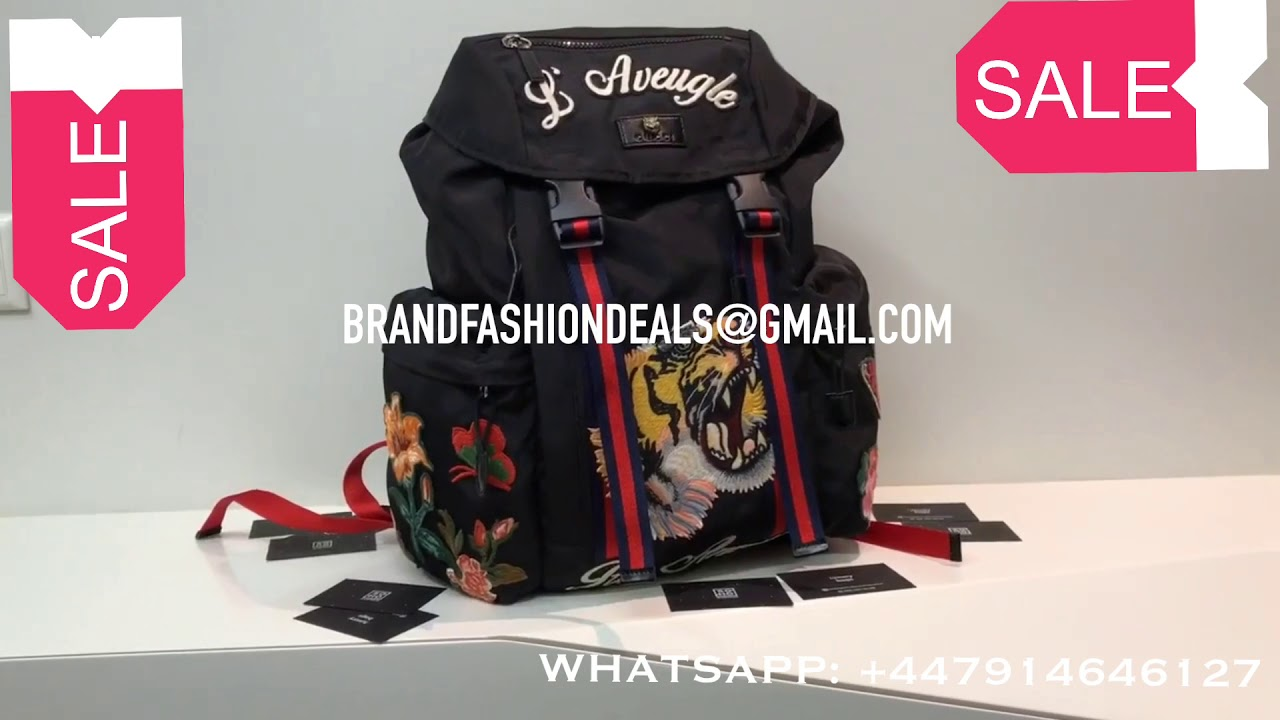 d01dd02ba6f5 UNBOXING | SALE Gucci Soft GG Supreme Applique Backpack Dark Coffee ...