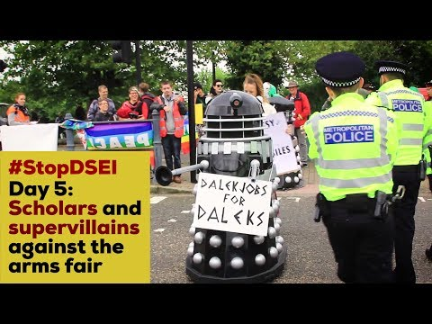 Stop DSEI Day 5: Scholars and Supervillains against the Arms Fair