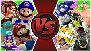 SMG4 vs MLG TOTAL WAR! (Sanic vs SMG4 Animation)   Cartoon Fight Club Episode 305