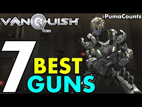 Top 7 Best Guns and Weapons in Vanquish (PC Port 4k 60fps Gameplay) #PumaCounts