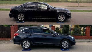Audi A6 Quattro vs Subaru Outback S-AWD - 4x4 test on rollers