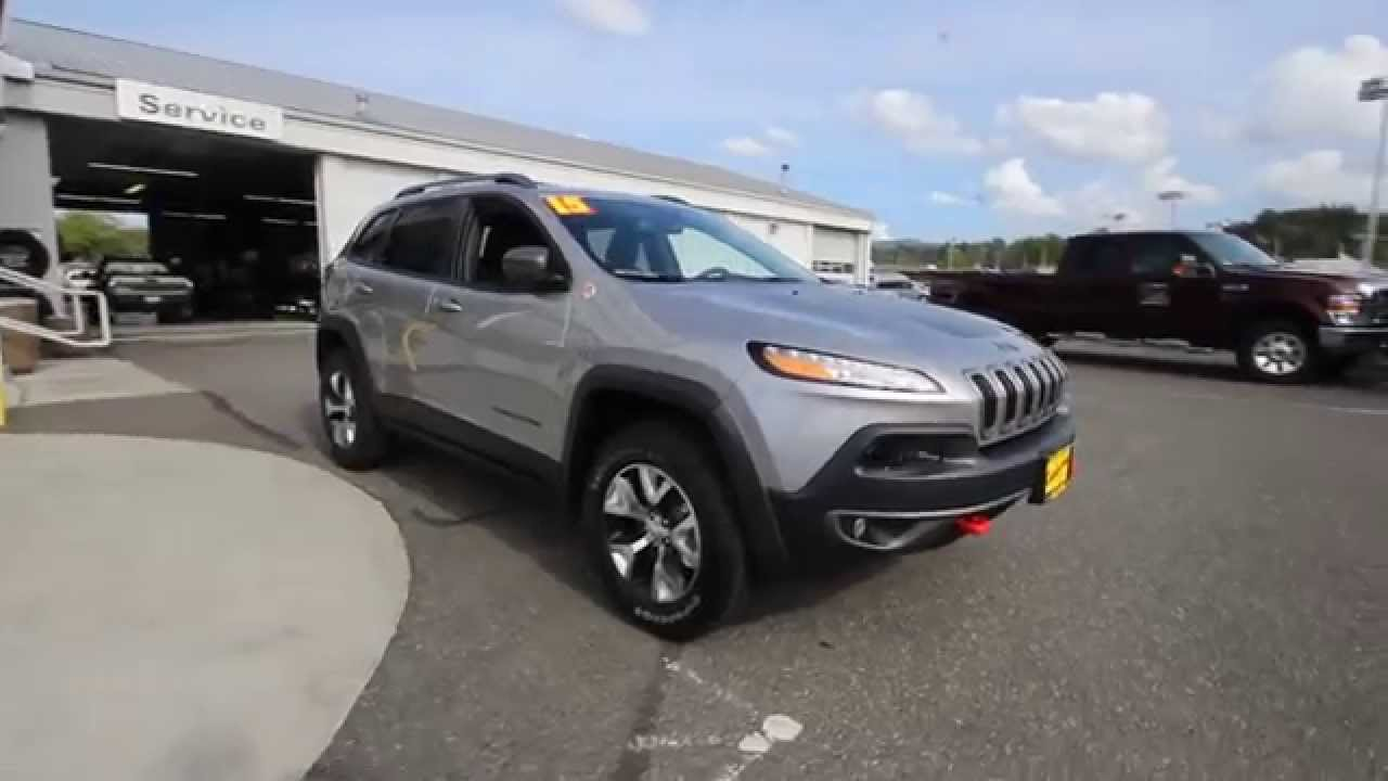 2015 jeep cherokee trailhawk silver fw521961 mt vernon skagit youtube. Black Bedroom Furniture Sets. Home Design Ideas