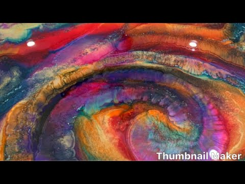 Tie Dyed_Resin Epoxy Painting_How To Resin