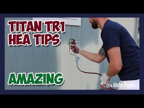 Stop Paint Overspray Use Titan S New Tr1 Hea Spray Tips Youtube