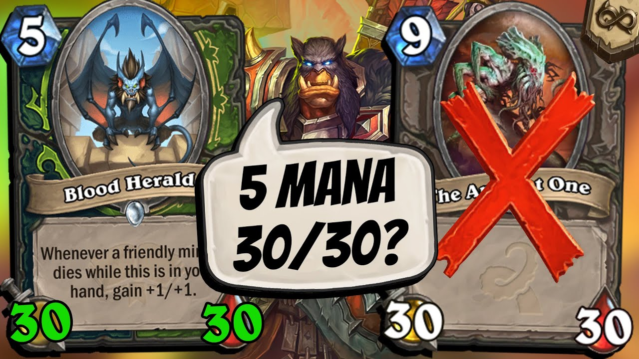 CHALLENGE: 30/30 Blood Herald Lethal?? Who Needs Ancient One? | Scholomance Academy | Hearthstone