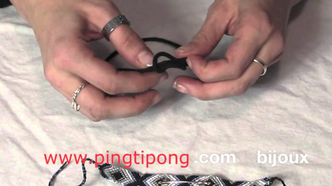 comment nouer un bracelet br silien toute seule youtube. Black Bedroom Furniture Sets. Home Design Ideas