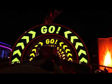 Slinky Dog Dash POV On-Ride NIGHTTIME 4K At Toy Story Land, Disney Hollywood Studios