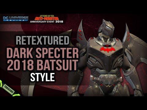 DCUO: Retextured Dark Specter 2018 Batsuit Style | Free Gift