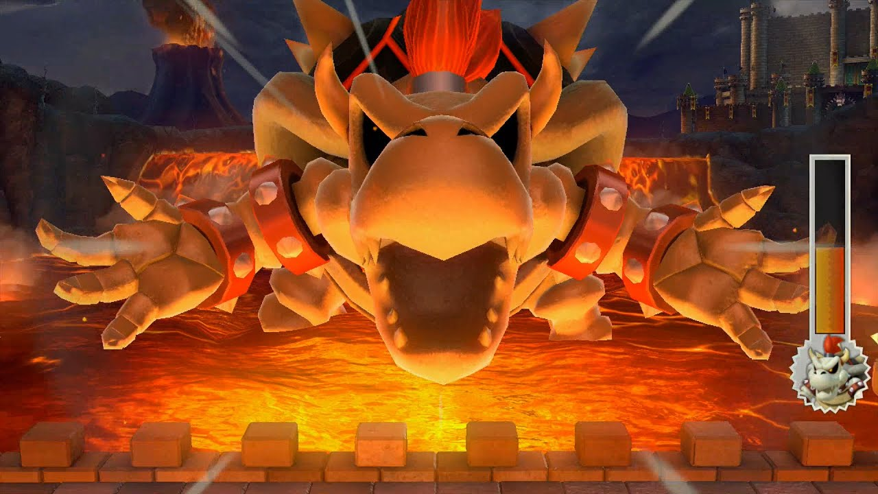 Wallpaper 3d Mario Bros Mario Party 10 Final Boss Battle Bowser Dry Bowser